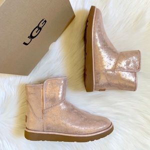 UGG Rose Gold Abree Mini Stardust Boots